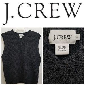 J.CREW 100% Wool Dark Grey Vest.